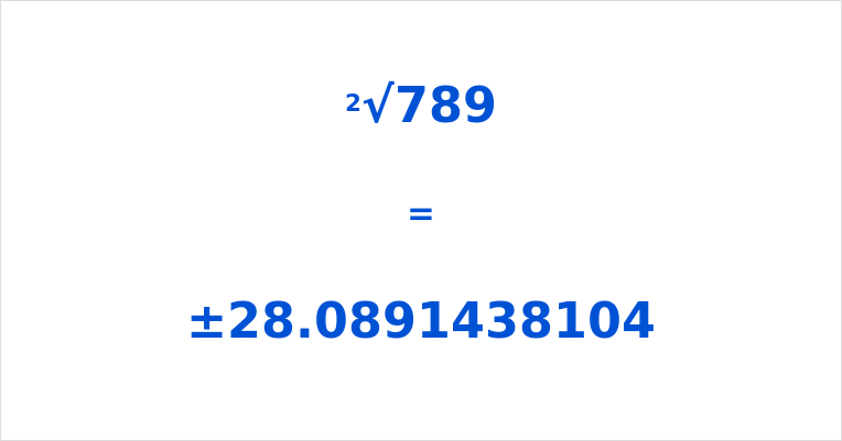 Square Root of 789