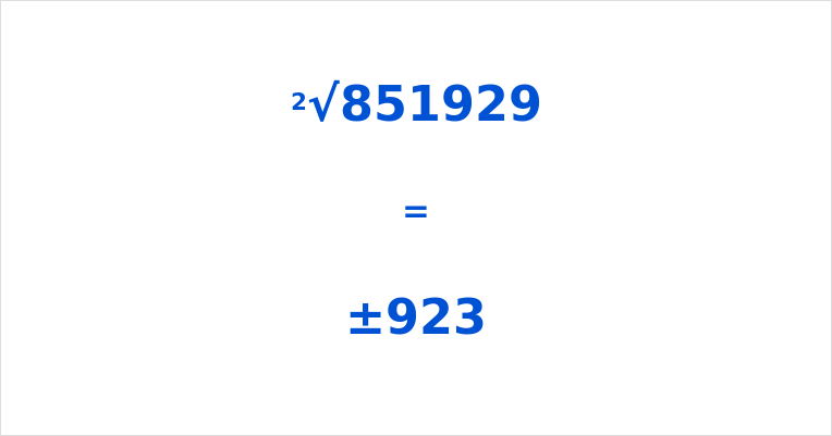 Square Root of 851929