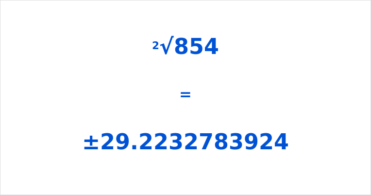 Square Root of 854