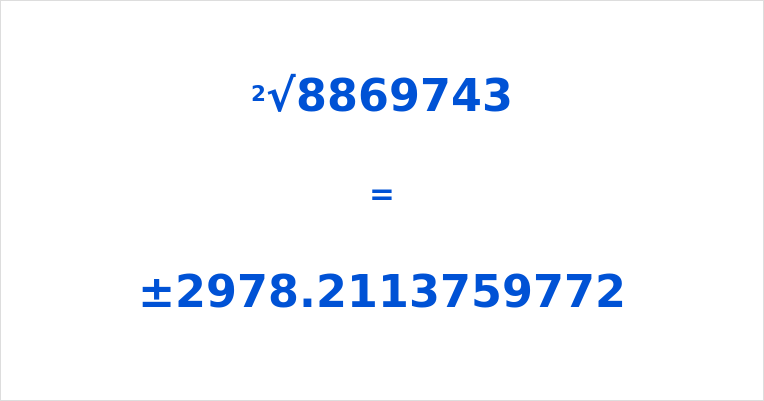Square Root of 8869743