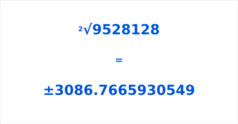 Square Root of 9528128